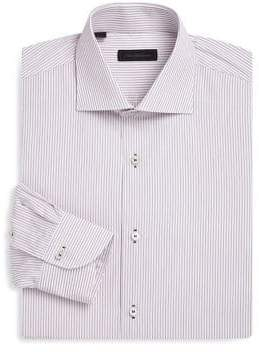 Saks Fifth Avenue COLLECTION Pinstripe Classic-Fit Cotton Dress Shirt