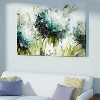 East Urban Home Hydrangea Field' by Lisa Audit painting on Wrapped Canvas