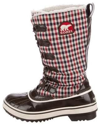 Sorel Gingham Snow Boots