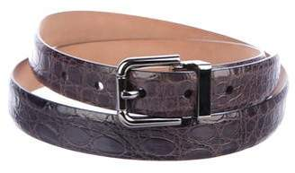 Dolce & Gabbana Glazed Crocodile Belt