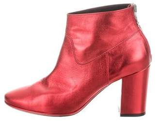 Golden Goose Metallic Leather Ankle Boots