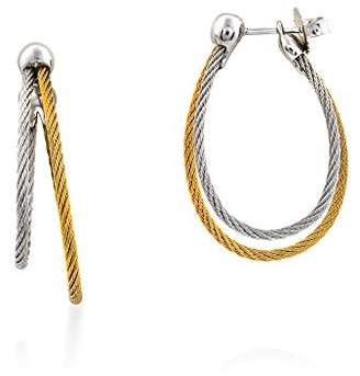 Alor Women's Grey And Yellow Cable Split Hoop