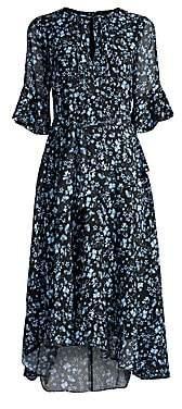 Shoshanna Women's Stellato Asymmetric Floral Midi Dress - Size 0