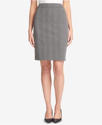 DKNY Herringbone Knit Pencil Skirt