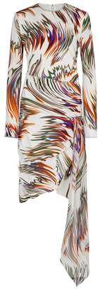 Givenchy Ecru Printed Silk Crepe Dress