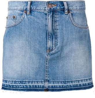 Marc Jacobs raw hem denim mini skirt