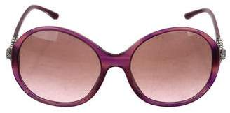 Bvlgari Jewel-Embellished Oversize Sunglasses