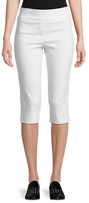 Isaac Mizrahi IMNYC Slimming Jacquard Capri Pull On Pants