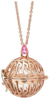 Goyal Paris Necklace Future Moms Note Silver Plated Pink Gold And Pink Tourmaline