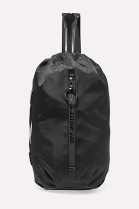 Off-White Leather-trimmed Shell Shoulder Bag - Black