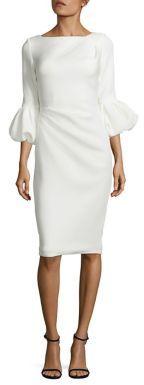 Jovani Puff Cuff Sheath Dress $550 thestylecure.com
