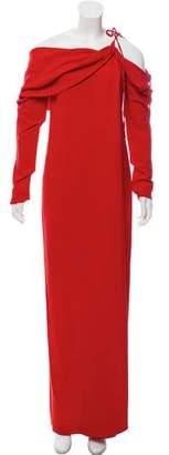 Monse Cold-Shoulder Evening Dress