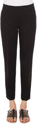 Akris Double Face Wool Blend High Waist Slim Pants