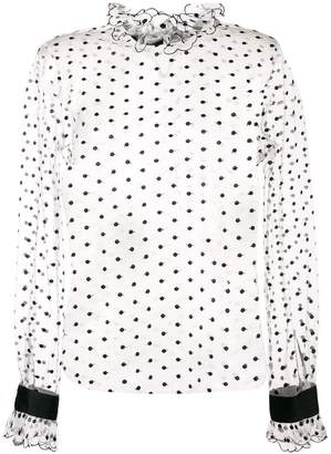 Philosophy di Lorenzo Serafini sheer polka dot blouse