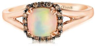 Chocolate By Petite Le Vian 14ct Strawberry Gold Chocolate Opal & Chocolate Diamond Ring