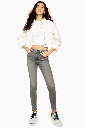 Topshop Womens Grey Jamie Jeans - Grey