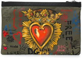 Dolce & Gabbana printed clutch