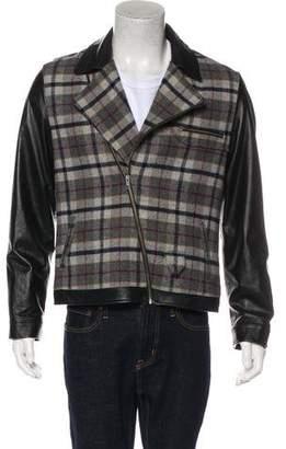 Timo Weiland Woven Biker Jacket