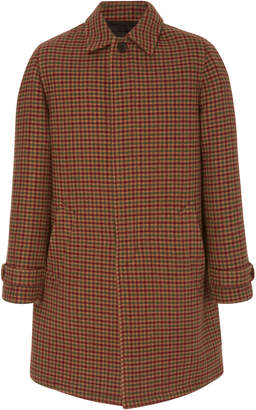 Prada Plaid Wool Overcoat