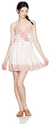 Trixxi Women's Border Dress W/Hardw
