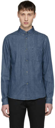 A.P.C. Blue Denim Serge Shirt