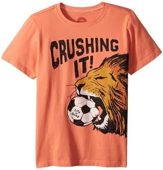 Life is Good Crushing It Soccer Crusher Tee Boy's T Shirt
