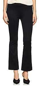 Helmut Lang Women's High-Rise Compact Knit Flared Pants - Black
