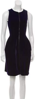 Alaia Velvet Fit & Flare Dress