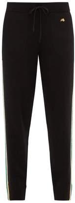 Bella Freud Suzuka Side Stripe Cashmere Blend Track Pants - Womens - Black Multi