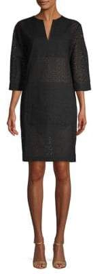 Tomas Maier Cotton Eyelet Shift Dress