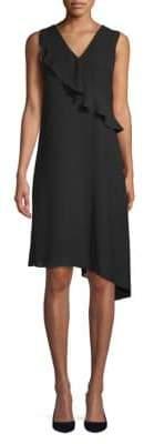 Saks Fifth Avenue BLACK Gauzy Asymmetrical Dress