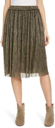 Etoile Isabel Marant Beatrice Pleated Lame A-Line Skirt