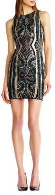 Aidan Mattox Embroidered Mini Dress