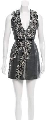 Brandon Sun Guipure Lace-Paneled Sheath Dress