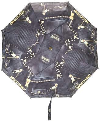Moschino biker bag print umbrella