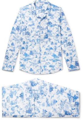 Derek Rose Ledbury 11 Printed Cotton Pyjama Set