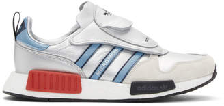 adidas Silver and Blue MicropacerXR1 Sneakers