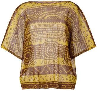 Pleats Please Issey Miyake half sleeve printed top