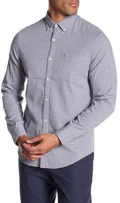 Original Penguin Long Sleeve Mini Dot Gingam Heritage Slim Fit Shirt