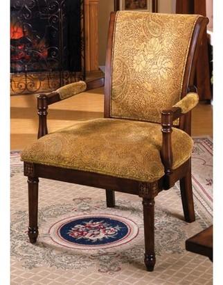 Hokku Designs Venetian Worldwide Stockton Upholstered Accent Chair, Antique Oak
