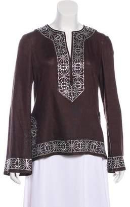 Tory Burch Linen Embellished Tunic