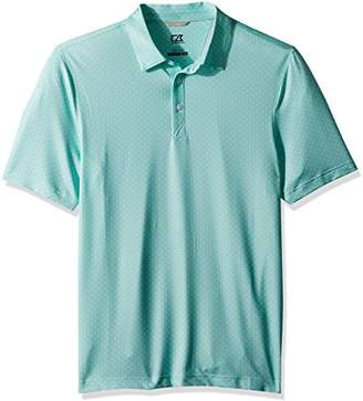 Cutter & Buck Men's Moisture Wicking Drytec UPF 50+ Print Jersey Polo Shirt