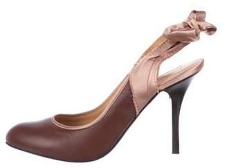 Lanvin Leather High-Heel Pumps