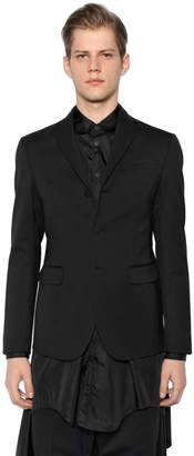 DSQUARED2 Stretch Wool Jacket W/ Vest Detail