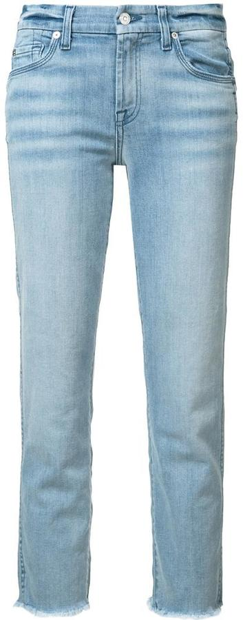 7 For All Mankind 7 For All Mankind frayed trim jeans