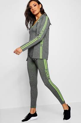 boohoo 3 Piece Sports Running Set - Jacket/Vest/Leggings