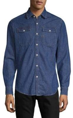 G Star Slim Cotton Button-Down Shirt