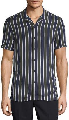 Jf J.Ferrar JF Mens Slim Button-Front Shirt