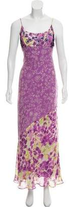 Nicole Miller Silk Printed Maxi Dress
