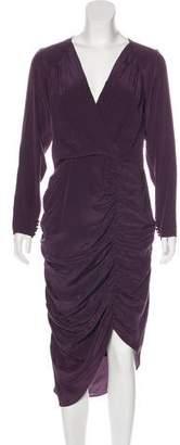 Chris Benz Ruched Silk Dress